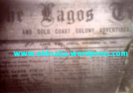 Lagos Times And Gold Coast Advertiser_OldNaija