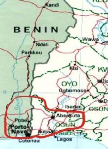 Egba Dahomey Map