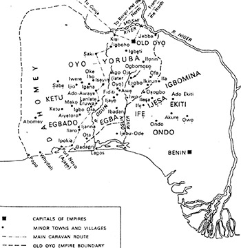 Map of Old Oyo Kingdom
