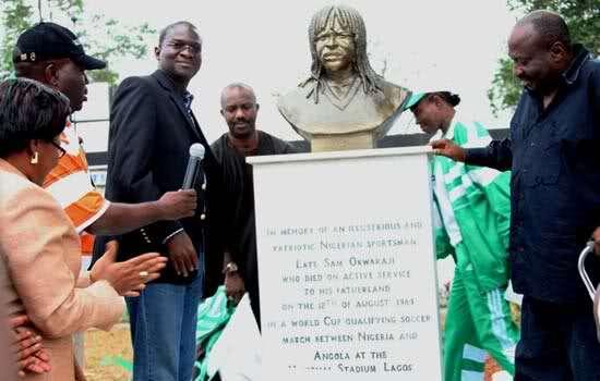 Sam Okwaraji statue in Lagos
