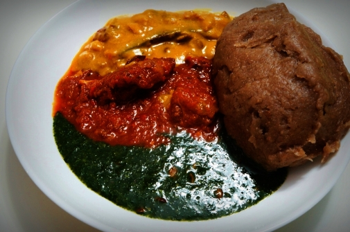 Amala and Ewedu and Gbegiri
