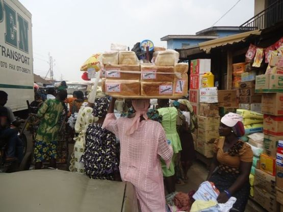 Bread and butter hawker in ibadan