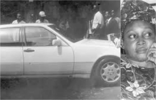 The car in which Kudirat Abiola was assassinated