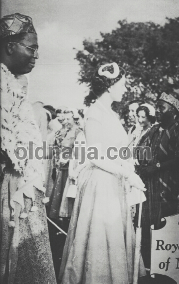 Queen Elizabeth and Awolowo