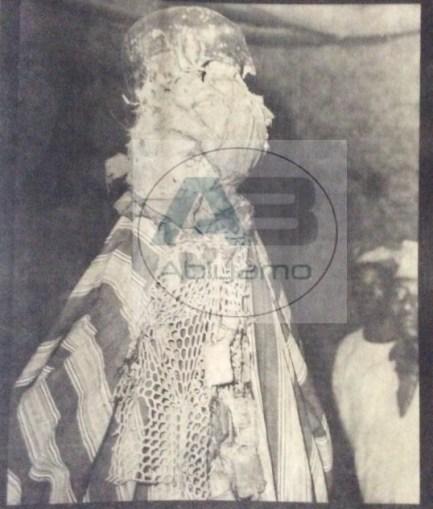 Oloolu masquerade in Ibadan
