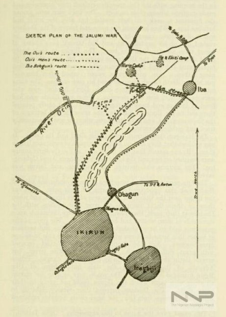 Sketch plan of 1878 Jalumi War aka Battle of Ikirun