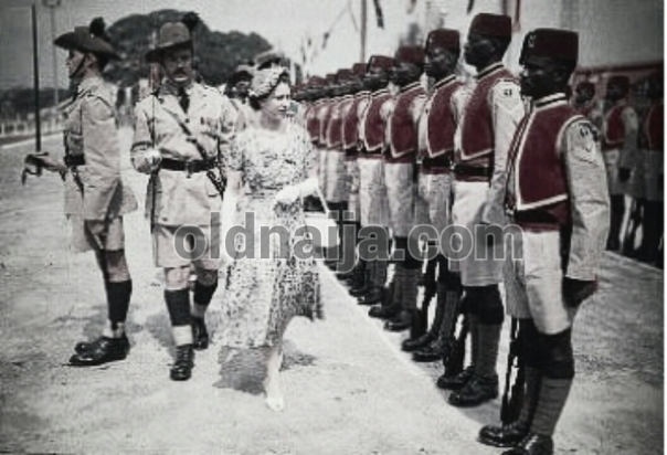 Queen Elizabeth in Nigeria,1956