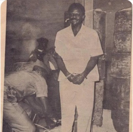 General Bisalla being tied to the stake