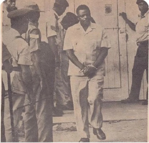 General Bisalla being led to the stake