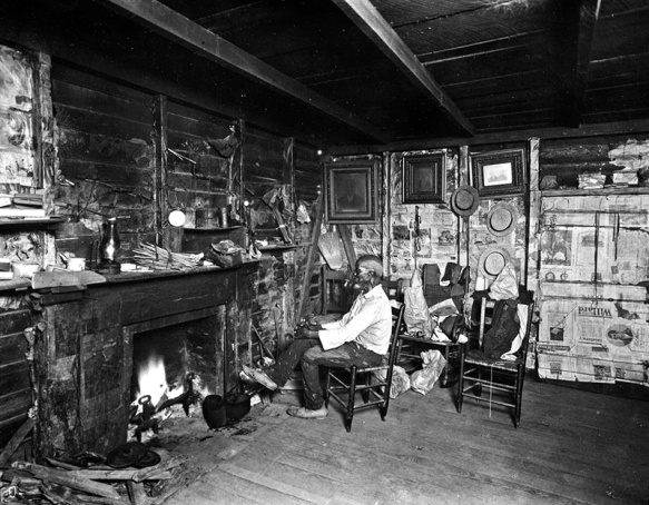 Cudjo Lewis at his home in AfricaTown in the late 1920s