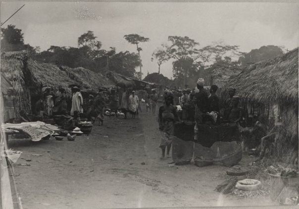 Old photo of market in western nigeria