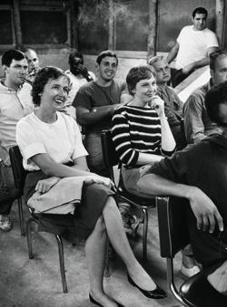 Margery Michelmore (on white shirt) during Peace Corps training at University of Ibadan | Smith College