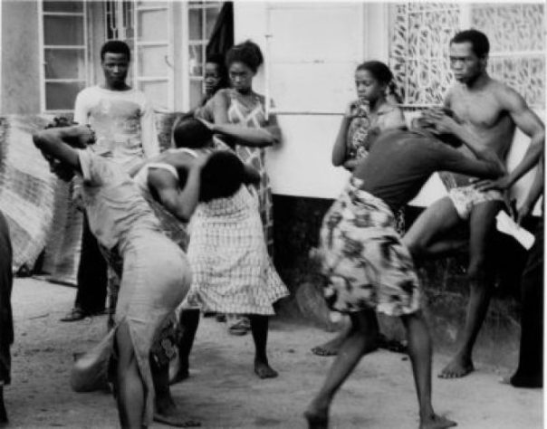 Fela and band members during a dance rehearsal at Kalakuta Republic | TheNetNG