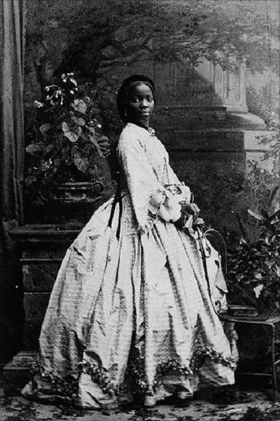 Portrait of Sarah Forbes Bonetta Davies photographed by Camille Silvy