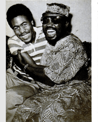 Ajala and his son, Oladipupo (Andre)