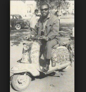 Moshood Adisa Olabisi Ajala aka Ajala the traveller on his vespa